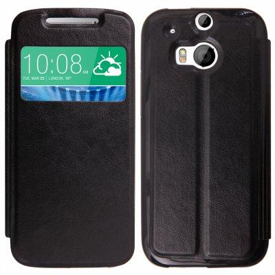 Etui livre noir pour HTC ONE (M8)
