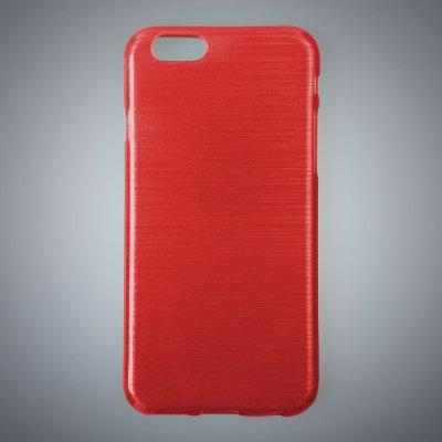 "Coque silicone effet métallique rouge pour Apple iPhone 6 4.7"""