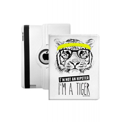Etui livre I'm a tiger pour Apple iPad 2/3/4