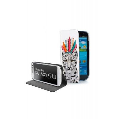 Etui livre universel La vie en rose pour Samsung Galaxy S3