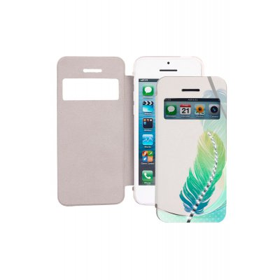 Etui livre Plumes strass pour iPhone 4 / 4S