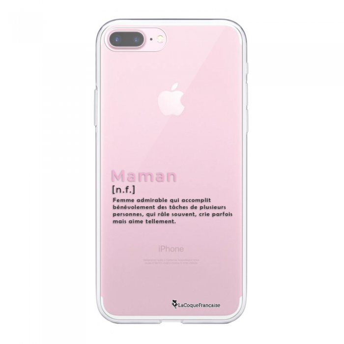 Coque iPhone 7 Plus/ 8 Plus 360 intégrale transparente Maman Definition Tendance La Coque Francaise - Coquediscount