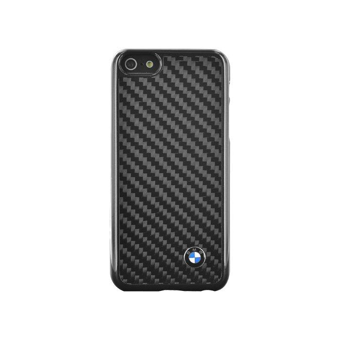 coque rigide noire bmw finition carbone pour iphone 5s 5