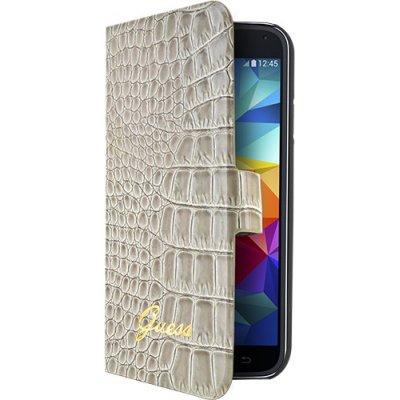 Etui à rabat Guess effet croco beige pour Samsung Galaxy S5 mini G800