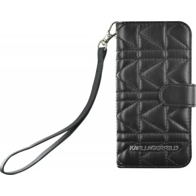 Karl Lagerfeld Etui Folio Kuilted Noire Pour Apple Iphone 5/5s**