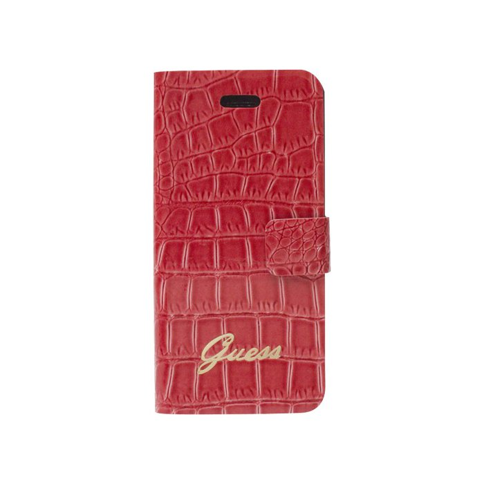 GUESS Etui coque Guess rouge effet croco pour iPhone 5/5S