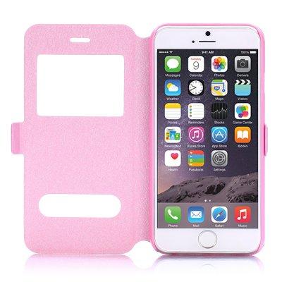 Etui livre fenêtres rose pour Apple iPhone 6 4.7''