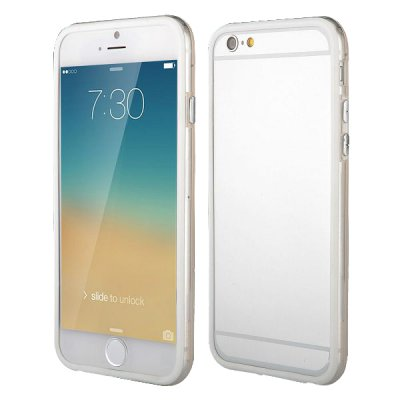 Bumper blanc et transparent pour iPhone 6 Plus 5.5''