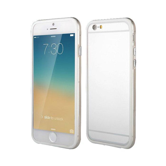 Bumper blanc et transparent pour iPhone 6 Plus 5.5''