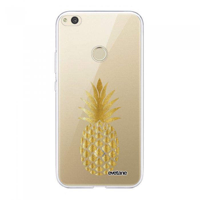 Coque Huawei P8 lite 2017 360 intégrale transparente Ananas Or Tendance Evetane - Coquediscount