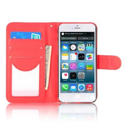 Etui livre rouge pour Apple iPhone 6 4.7''