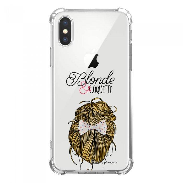 Coque iPhone X iPhone XS anti-choc souple avec angles renforcés transparente Blonde et coquette Tendance La Coque Francaise...