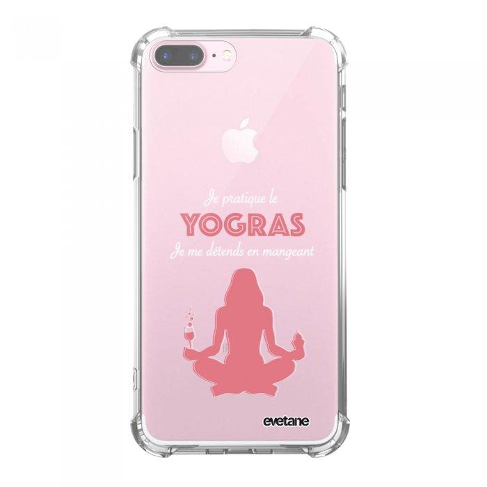 Coque iPhone 7 Plus / 8 Plus anti-choc souple avec angles renforcés transparente Yogras Tendance Evetane