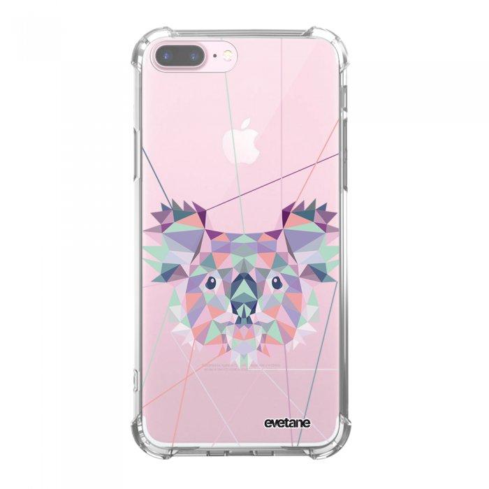 Coque iPhone 7 Plus / 8 Plus anti-choc souple avec angles renforcés transparente Koala outline Tendance Evetane