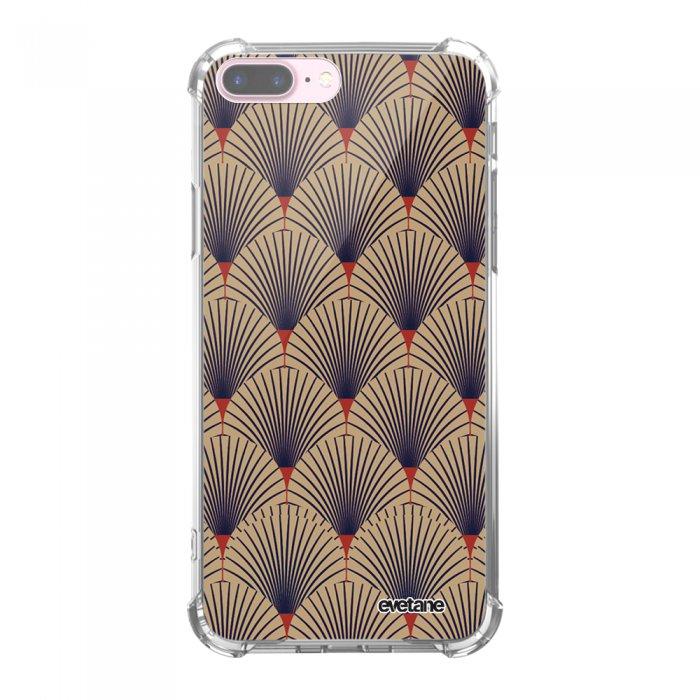 Coque iPhone 7 Plus / 8 Plus anti-choc souple avec angles renforcés transparente Art déco motifs Tendance Evetane...
