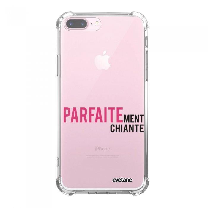 Coque iPhone 7 Plus / 8 Plus anti-choc souple avec angles renforcés transparente Parfaitement chiante Tendance Evetane...