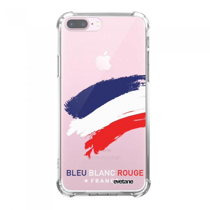 Coque iPhone 7 Plus / 8 Plus anti-choc souple avec angles renforcés transparente France Tendance Evetane...