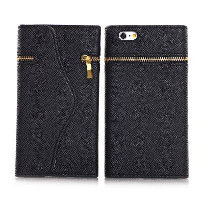 Etui livre portefeuille noir pour Apple iPhone 6 Plus