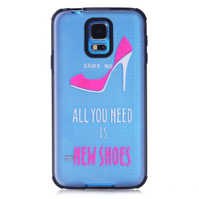Coque transparente All you need is shoes phosphorescent Samsung Galaxy S5 G900