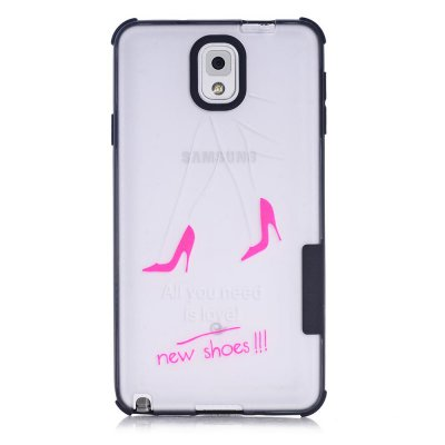 Coque transparente All you need is shoes Samsung Galaxy Note 3