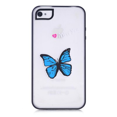 Coque transparente miss you phosphorescent pour Apple iPhone 4/4S
