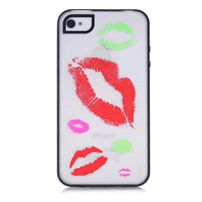 Coque transparente Bisous phosphorescent pour Apple iPhone 4/4S