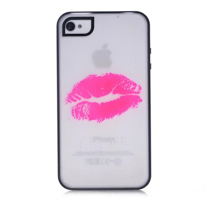 Coque transparente Kiss me phosphorescent pour Apple iPhone 4/4S