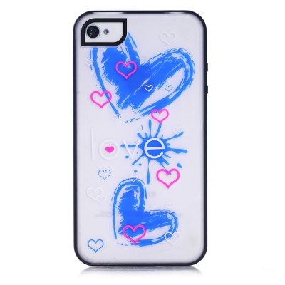 Coque transparente Love phosphorescent pour Apple iPhone 4/4S
