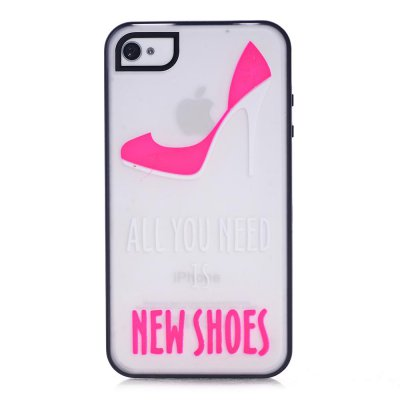Coque transparente All you need is shoes phosphorescent pour Apple iPhone 4/4S