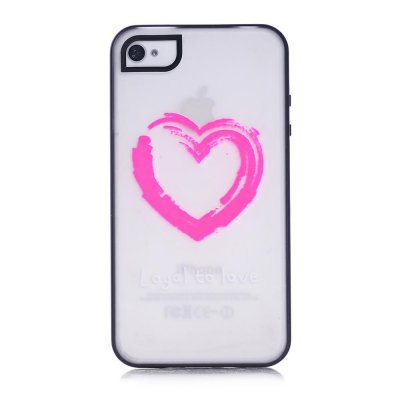 Coque transparente Loyal to love phosphorescent pour Apple iPhone 4/4S