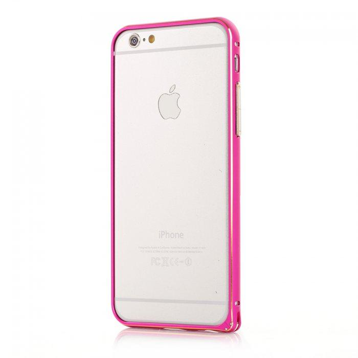 Bumper métallique rose pour Apple iPhone 6