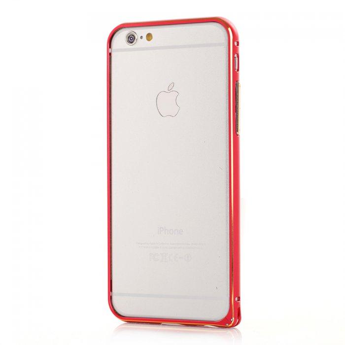 Bumper métallique rouge pour Apple iPhone 6