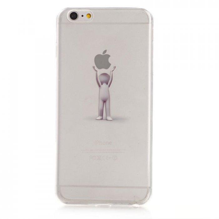 coque silicone transparente personnage pomme 2 pour apple iphone 6 plus