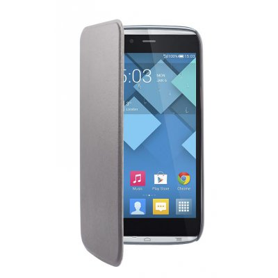 SWISS CHARGER étui folio slim noir pour ALCATEL IDOL ALPHA