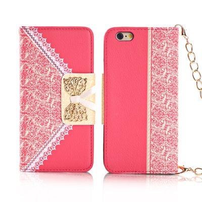 Etui livre dentelles rose pour Apple iPhone 6