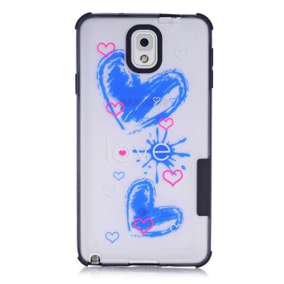 Coque transparente Love phosphorescent Samsung Galaxy Note 3