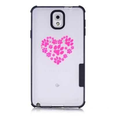 Coque transparente I love animals phosphorescent Samsung Galaxy Note 3