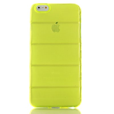 Coque silicone bombée vert transparent Apple iPhone 6 Plus