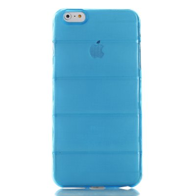 Coque silicone bombée bleu transparent Apple iPhone 6 Plus