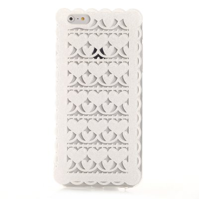 Coque rigide dentelle Blanche pailletée pour Apple iPhone 5 / 5S