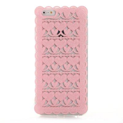 Coque rigide dentelle rose pailletée pour Apple iPhone 6 Plus