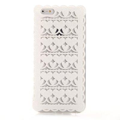 Coque rigide dentelle blanche pailletée pour Apple iPhone 6 Plus