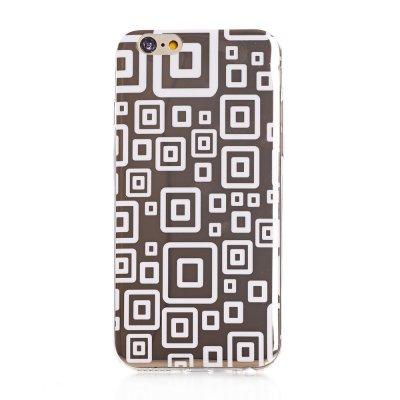 Coque silicone dorée motif rectangles blanc pour Apple iPhone 6 Plus