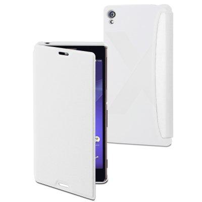 Mfx Etui Easy Folio Blanc Pour Sony Xperia Z3**