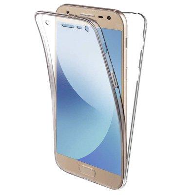 Coque transparente intégrale 360° en silicone souple pour Samsung Galaxy J3 2017