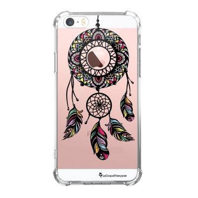 Coque iPhone 5/5S/SE anti-choc souple avec angles renforcés transparente Rêve Indien Tendance La Coque Francaise...