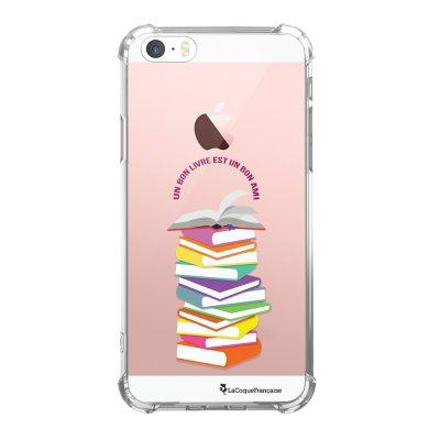 Coque iPhone 5/5S/SE anti-choc souple avec angles renforcés transparente Livres Tendance La Coque Francaise...