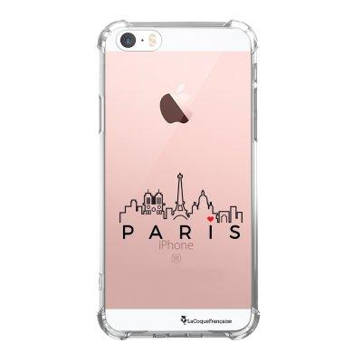 Coque iPhone 5/5S/SE anti-choc souple avec angles renforcés transparente Skyline Paris Tendance La Coque Francaise...