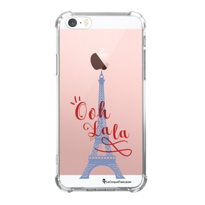 Coque iPhone 5/5S/SE anti-choc souple avec angles renforcés transparente Tour Eiffel Oh La La Tendance La Coque Francaise...