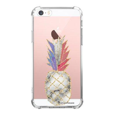 Coque iPhone 5/5S/SE anti-choc souple avec angles renforcés transparente Ananas à la Française Tendance La Coque Francaise...